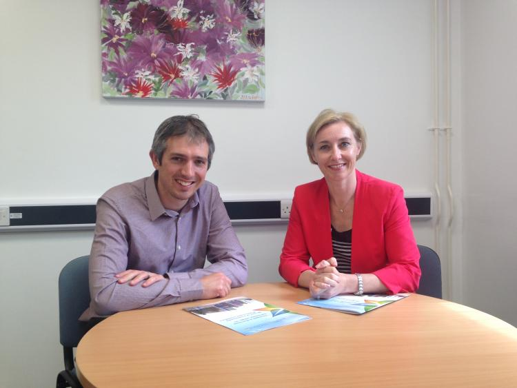 Dr Rhian Hayward and Richard Glover Davies